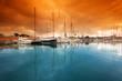 Leinwandbild Motiv Port Vell - marina in Barcelona. Spain.