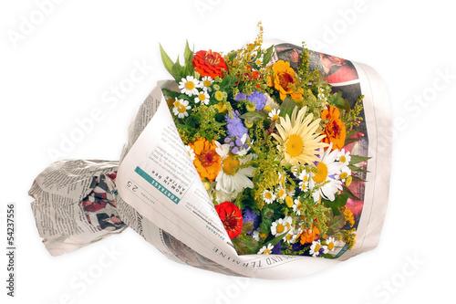 Foto op Canvas Madeliefjes Bunter Blumenstrauß vom Bauerngarten