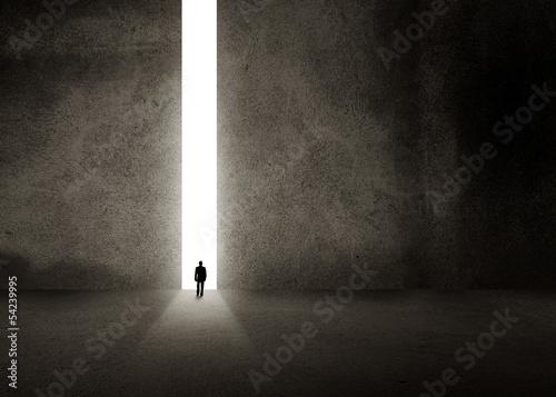 Photo Silhouette of businessman