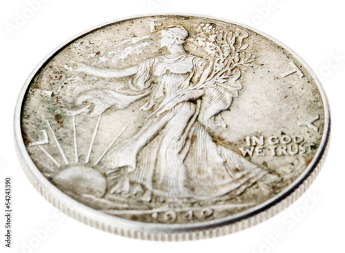 Poster  Walking Liberty Half Dollar - Heads High Angle