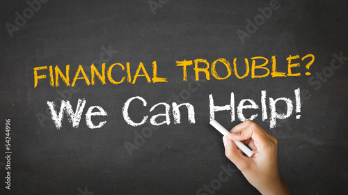 Financial Trouble Chalk Illustration