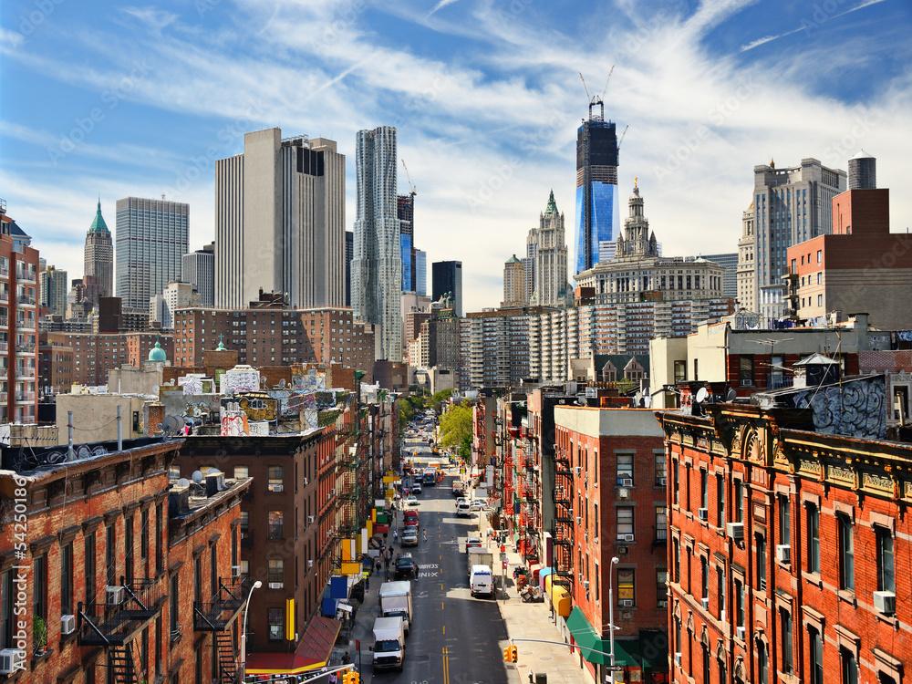 Fototapety, obrazy: Lower Manhattan Cityscape