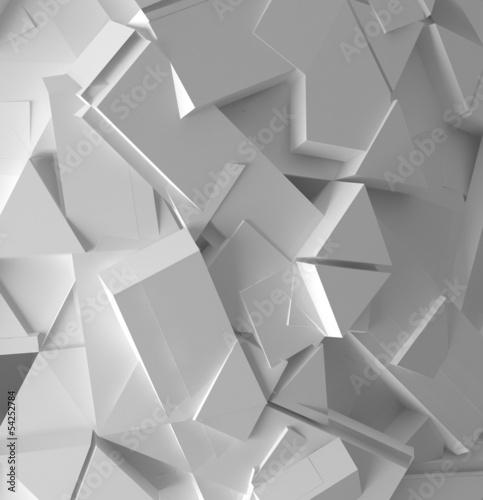 abstrakcjonistyczny-bialy-3d-mozaiki-wzor