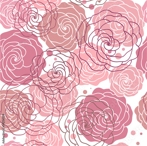 Tuinposter Abstract bloemen seamless abstract floral background