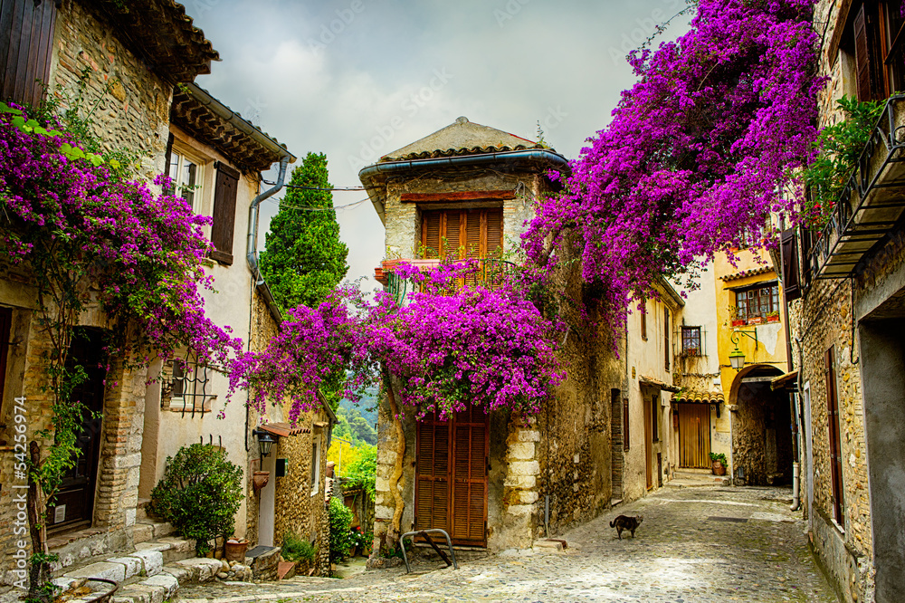 Fototapeta art beautiful old town of Provence