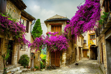 Obraz na Szkle Prowansalski art beautiful old town of Provence
