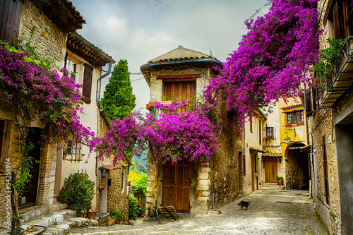 Fotobehang Nice art beautiful old town of Provence