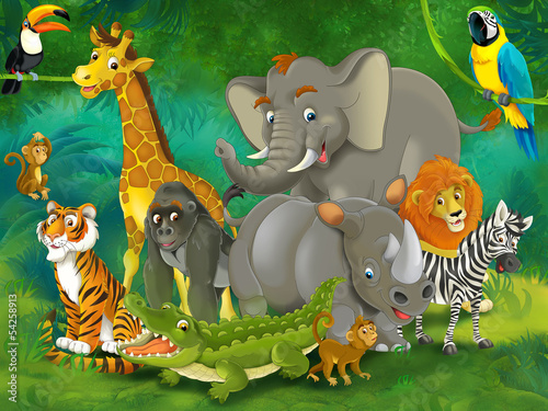 Cartoon safari - illustration for the children #54258913