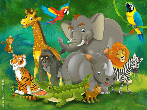 Cartoon safari - illustration for the children #54258914