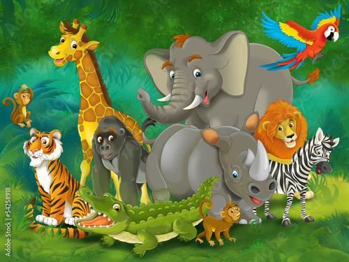 Cartoon safari - illustration for the children #54258918