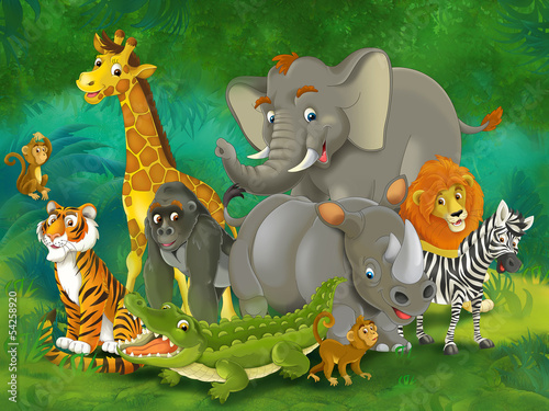 Cartoon safari - illustration for the children #54258920