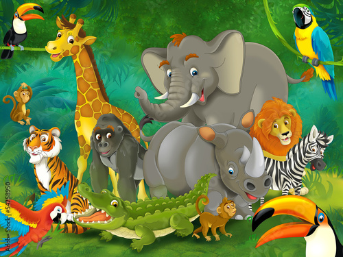 Cartoon safari - illustration for the children #54258950