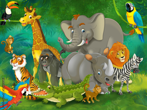 Cartoon safari - illustration for the children #54258952