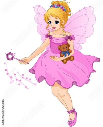 ilustracja-sliczna-dziewczyna-w-purpurowej-sukni-z-czarodziejskimi-skrzydlami