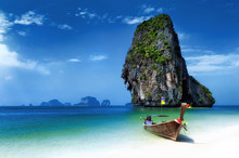 Thailand Beach In Tropical Isl...
