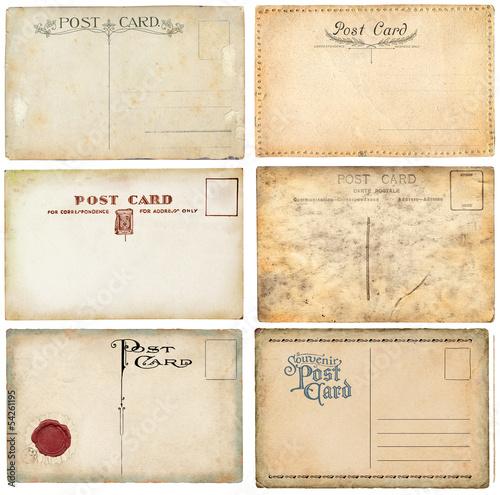 Fotografia  Old postcards set