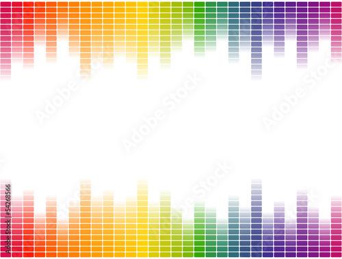 Fotografía  Digital Equalizer Hintergrund bunt - endlos