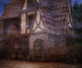 Fototapeta na wymiar Scary Tavern Background