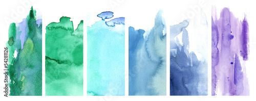 Plakat Zielony, niebieski i fioletowy