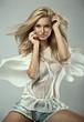 Leinwanddruck Bild - Portrait of a blond beauty