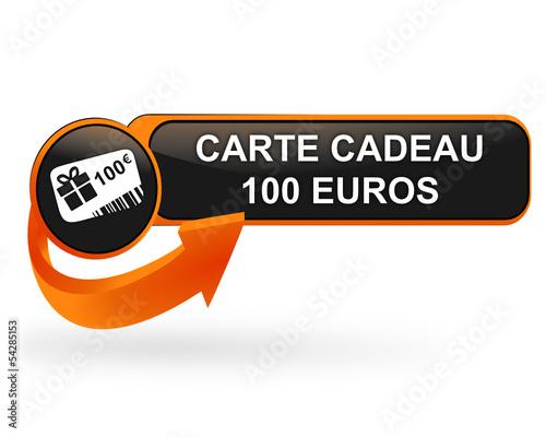 Carte Cado Web.Carte Cadeau 100 Euros Sur Bouton Web Design Orange Buy