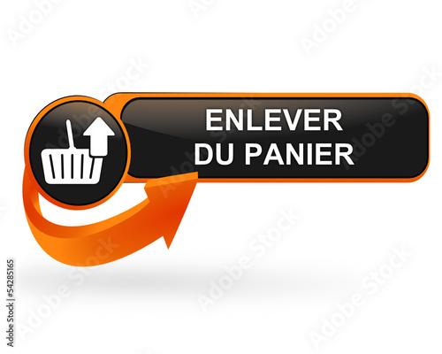 enlever du panier sur bouton web design orange Canvas Print