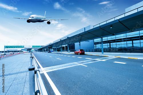 Poster Aeroport Shanghai Pudong Airport road