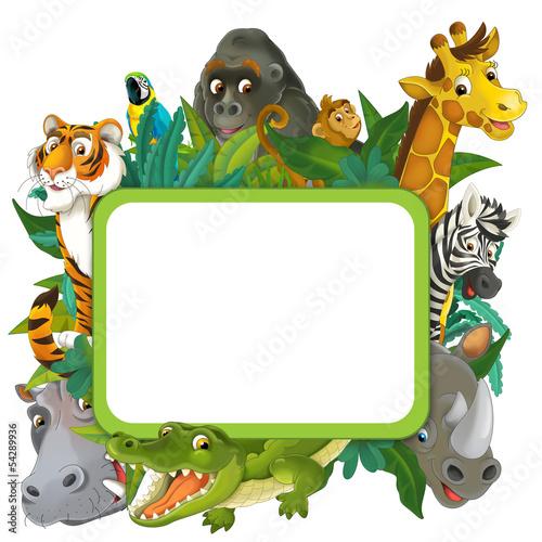Photo Banner - frame - border - jungle safari theme