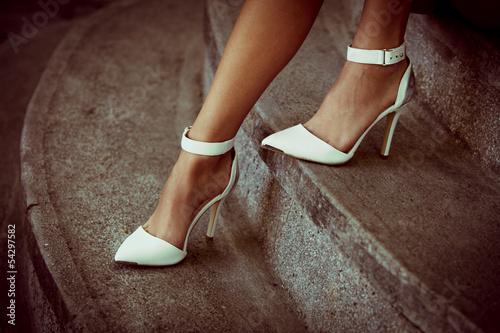 Stampa su Tela high heel shoes
