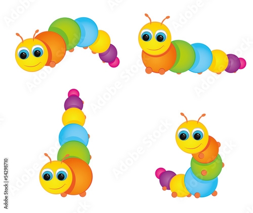 Fotografía  funny colorful caterpillar