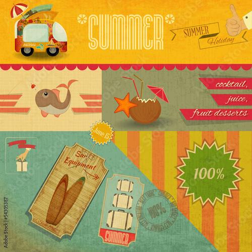 Plakat na zamówienie Retro Summer Card