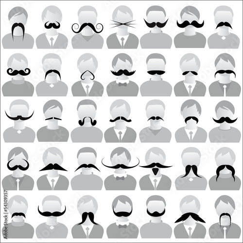 Photo  Mustaches set