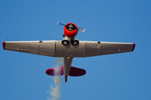 Vintage Aircraft Flies Overhead