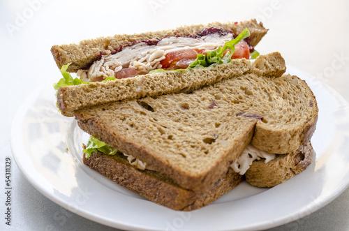 Foto op Canvas Snack Turkey sandwich
