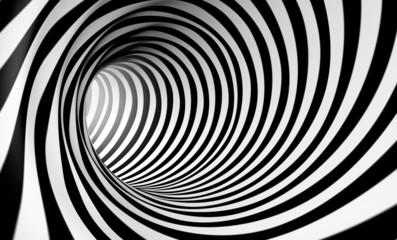 Naklejka Fondo espiral abstracta 3d en blanco y negro