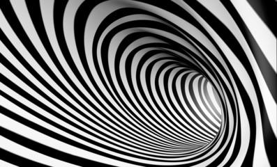 fototapeta 3D czarno biała spirala