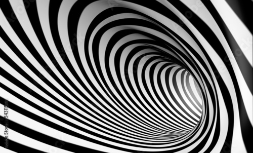 obraz lub plakat Fondo espiral abstracta 3d en blanco y negro