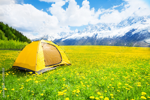 Obraz Nice place for tent camping - fototapety do salonu