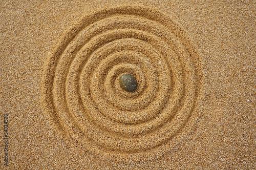 Tuinposter Spiraal Landart Zen, Spirale der Unendlichkeit