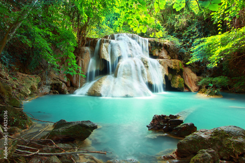 Poster Watervallen Huay mae kamin waterfall