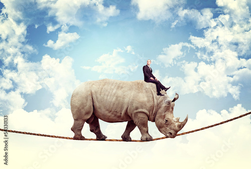 Poster de jardin Rhino nice ride