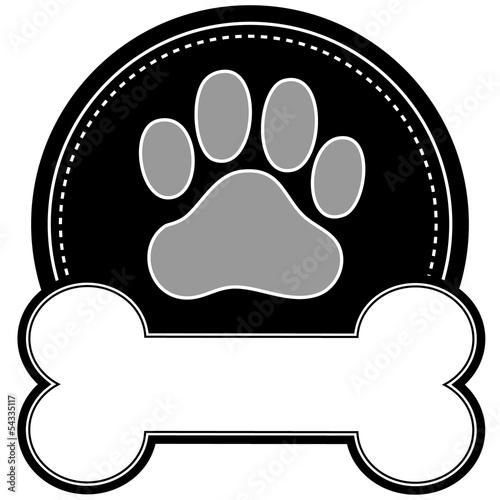 Cuadros en Lienzo  Dog Bone and Paw