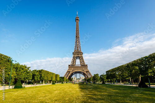 Eiffel Tower and Champ  de Mars in Paris, France Poster