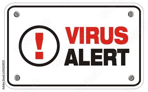 Fototapety, obrazy: virus alert rectangle sign