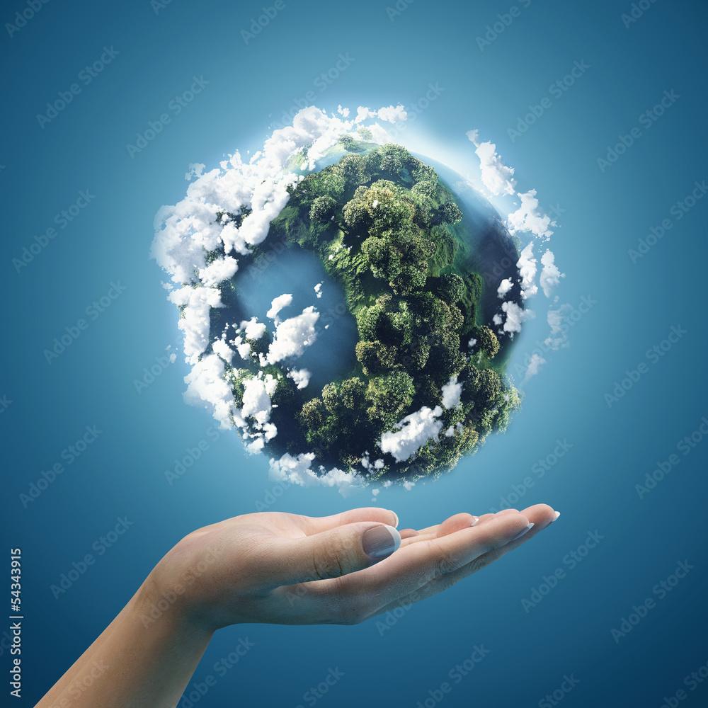 Fototapeta Planet earth in hands