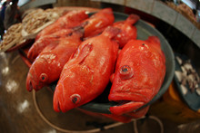 Red Fish At A Wet Market In In...