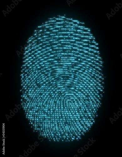 Fotografering  Цифровой отпечаток пальца