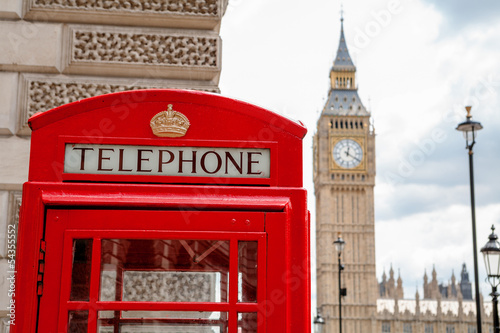 Foto op Canvas Londen Red phone booth. London, UK