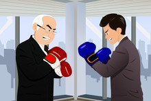 Business Concept Of Two Businessmen Fighting
