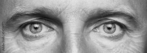 Fotografía  Panorama of men's eyes